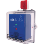 The AED Protective Cabinets from Safety Technology International allow AED units to remain protected but still highly visible in the event of an emergency.