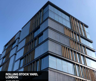 Coopers installed FireMaster fire curtains over the lift door openings over four floors to prevent smoke from spreading at the Rolling Stock Yard.